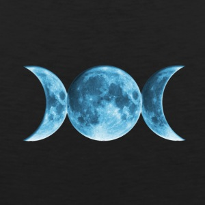 Wicca Blue Moon T-shirts - Mannen Premium tank top