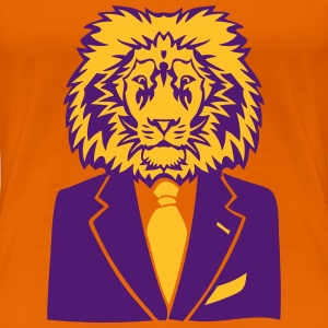 lion costume cravate business king roi Tee shirts - T-shirt Premium Femme