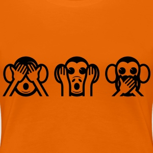 3 Wise Monkey Emoticon T-Shirts - Women's Premium T-Shirt