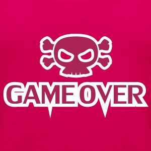 GAME OVER Totenkopf - Frauen Premium Tank Top