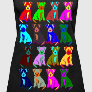 colorful puppies Tops - Vrouwen Premium tank top
