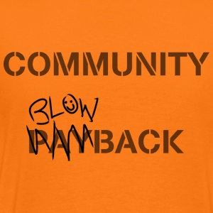 Community Blowback - T-shirt Premium Homme