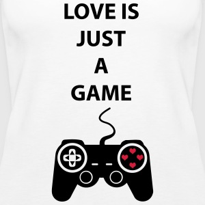 Love is just a game 2c Tops - Frauen Premium Tank Top