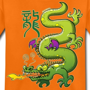 Chinese Dragon Breathing Fire Shirts - Teenage Premium T-Shirt