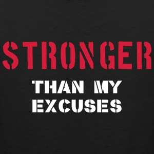 Stronger Than My Excuses T-shirts - Herre Premium tanktop