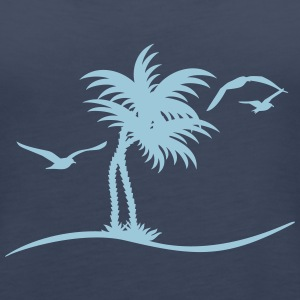 Palmen / palm trees (1c) Tops - Frauen Premium Tank Top