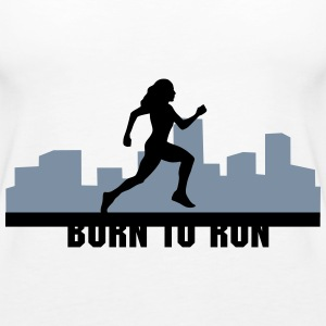 woman running, run, city run - Women's Premium Tank Top