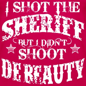 I Shot The Sheriff, But Not The Beauty-White Tops - Women's Premium Tank Top