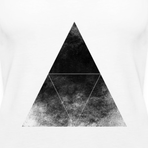 Dreieck+TRIANGLE+HIPSTER+MOUSTACHE+GEEK+SWAG STYLE Tops - Frauen Premium Tank Top