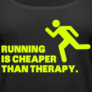 Running Is Cheaper Than Therapy Topy - Tank top damski Premium