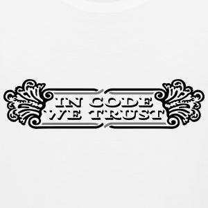 In code we trust dollar Top Mann - Männer Premium Tank Top