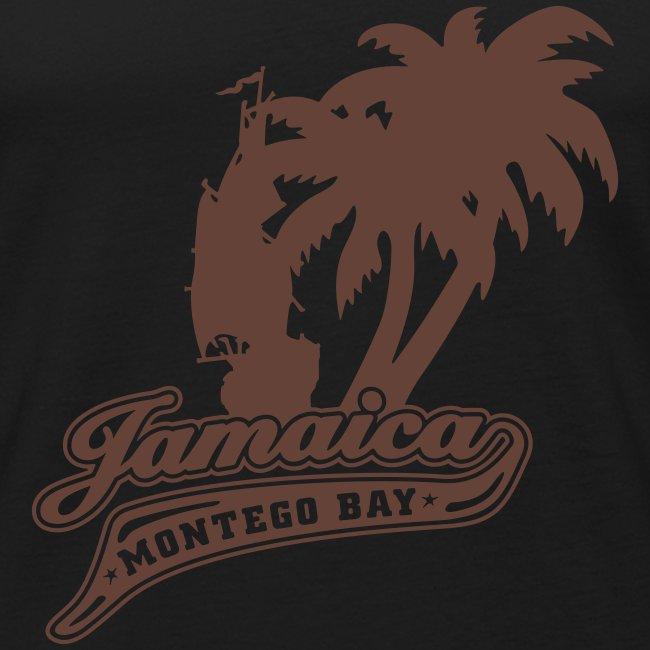 olivfarbenes Muskel - Shirt Jamaica Montego Bay