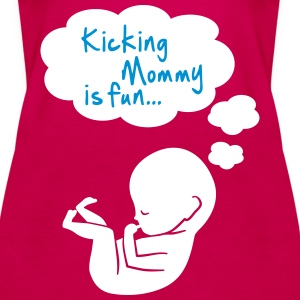 kicking mommy is fun... Tops - Frauen Premium Tank Top