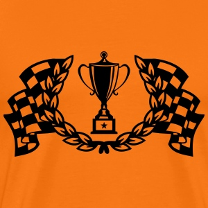 trophy racing flags T-Shirts - Men's Premium T-Shirt