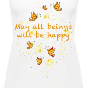 May all beings will be happy Topy - Tank top damski Premium