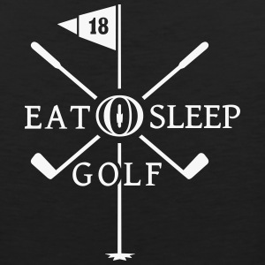 Eat Sleep Golf (2c) T-Shirts - Men's Premium Tank Top