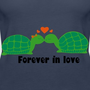 Schildkröten in love 3 Tops - Frauen Premium Tank Top