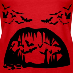 Bats and Cave - Tank top damski Premium
