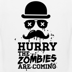 Hurry the zombies are coming zombie halloween Tee shirts - Débardeur Premium Homme