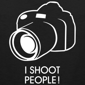 i shoot people T-shirts - Mannen Premium tank top