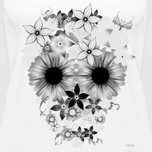 Skull Flowers Tops - Women's Premium Tank Top