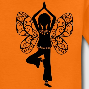 Yoga girl, butterfly wings, fairy, asana, teacher Magliette - Maglietta Premium per bambini