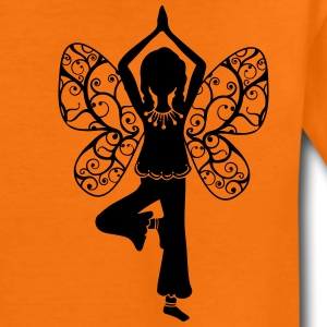Yoga girl, butterfly wings, fairy, asana, teacher Shirts - Kids' Premium T-Shirt