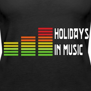 Holidays in music Tops - Women's Premium Tank Top