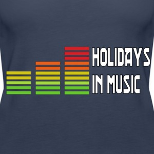 Holidays in music Tops - Vrouwen Premium tank top