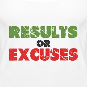Results or Excuses | Vintage Style Tops - Women's Premium Tank Top