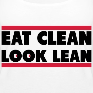Eat Clean Look Lean Tops - Camiseta de tirantes premium mujer