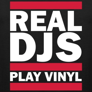 Real DJS PLAY VINYL T-Shirts - Männer Premium Tank Top