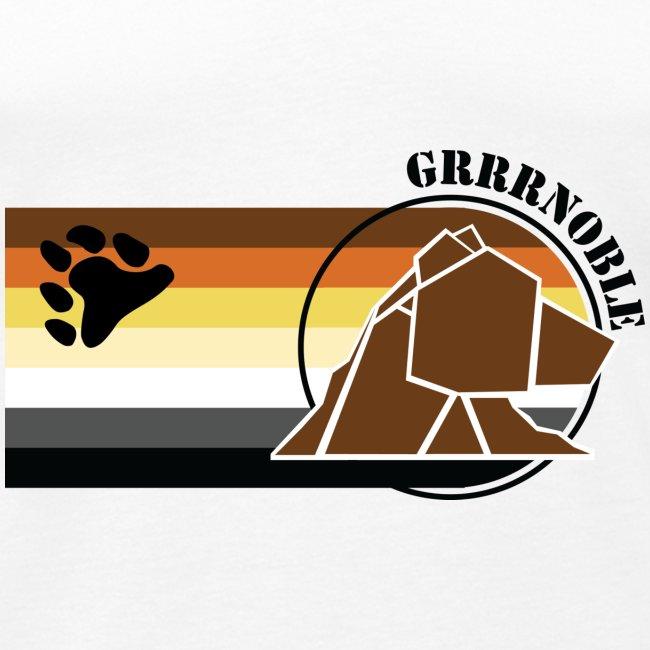 T-shirt sans manche GRRRNOBLE BEAR ASSOCIATION logo et patte d'ours