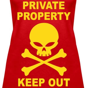 private property keep out Tops - Women's Premium Tank Top