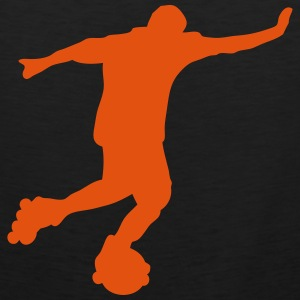 roller foot silhouette soccer 2 Tee shirts - Débardeur Premium Homme