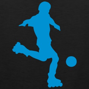 roller foot silhouette soccer 1 Tee shirts - Débardeur Premium Homme