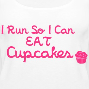 I Run So I Can Eat Cupcakes Tops - Women's Premium Tank Top