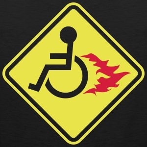Wheelchair on Fire T-Shirts - Men's Premium Tank Top