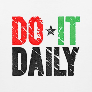 Do It Daily | Washed Out  T-shirts - Mannen Premium tank top