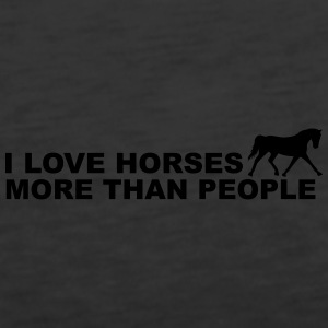 I Love Horses More Than People Tops - Vrouwen Premium tank top
