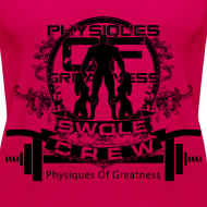 Design ~ WOMENS Swole Crew Black Tank