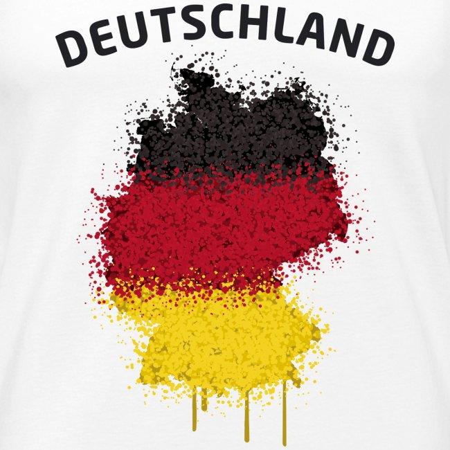 Herren Fußball Fan Muskelshirt Deutschland Graffiti