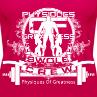 Design ~ WOMENS Swole Crew White Tank
