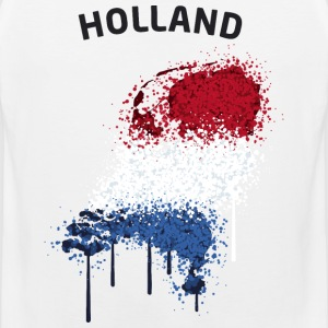 Holland Text Landkarte Flagge Graffiti T-Shirts - Männer Premium Tank Top