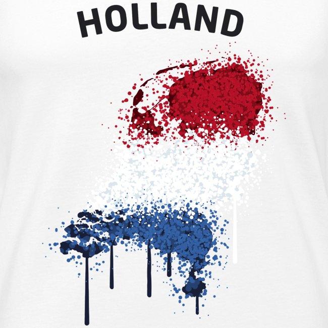 Herren Fußball Fan Muskelshirt Holland Graffiti