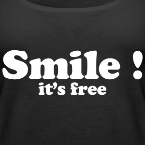 smile it's free Tops - Frauen Premium Tank Top