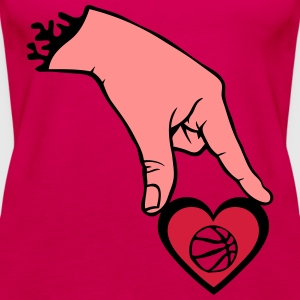 Finger Hand hält Basketball Tops - Frauen Premium Tank Top