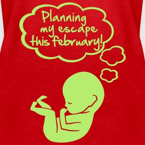 planning my escape this february Tops - Frauen Premium Tank Top