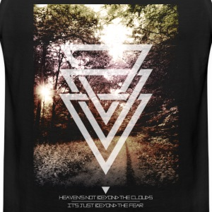 mystic forest triangles T-shirts - Mannen Premium tank top