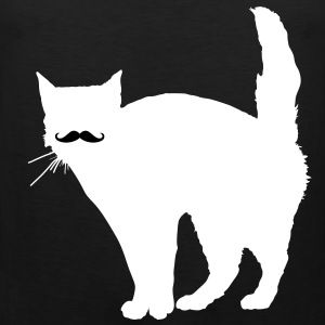 Cat Moustache T-Shirts - Men's Premium Tank Top